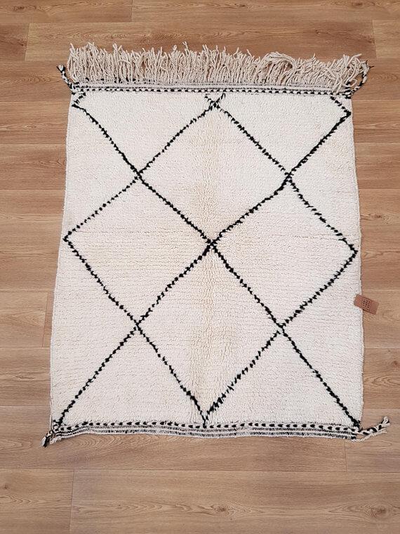 tapis berb re marocain petit b ni ouarain nou main l 39 entr e deco. Black Bedroom Furniture Sets. Home Design Ideas